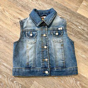 Lucky Brand Girls Size 4 Denim Jean Vest